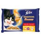 Felix Sensations Házias Válogatás teljes értékű állateledel felnőtt macskák számára 4 x 100 g
