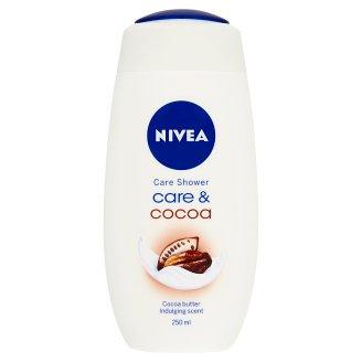 NIVEA Care & Cocoa kényeztető krémtusfürdő kakaóvajjal és tejproteinnel 250 ml