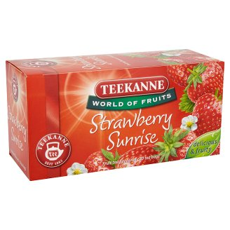Teekanne World of Fruits Strawberry Sunrise eperízű gyümölcstea keverék 20 filter 50 g