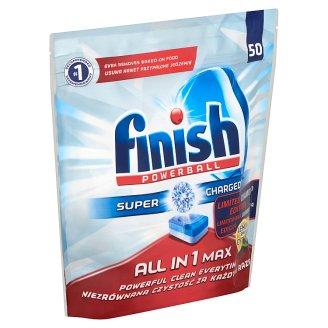 Finish All in 1 MAX Diamond Powerball Lemon Dishwasher Tablets 50 pcs