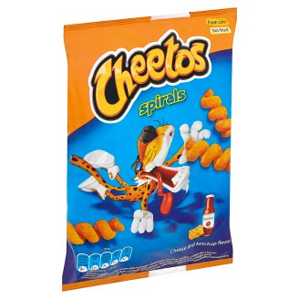 Cheetos Spirals sajtos & ketchupos ízesítésű kukoricasnack 30 g