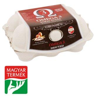Farm Tojás Prémium Omega 3 Egg M 6 pcs