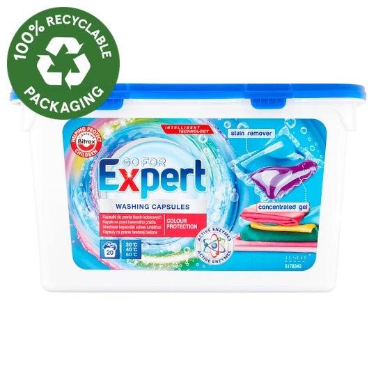 Go for Expert mosószer kapszulák színes ruhákhoz 20 mosás 490 ml