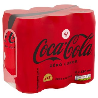 Coca-Cola Zero Energy-Free Carbonated Soft Drink with Sweeteners 6 x 330 ml
