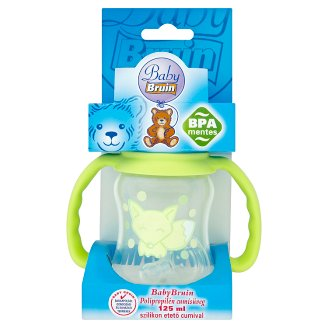 Baby Bruin 125 ml Nursing Bottle with Silicone Teat 0-6 Months