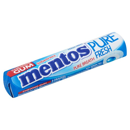 Mentos Pure Fresh Fresh Mint Flavoured Chewing Gum with Sweetener 15,5 g