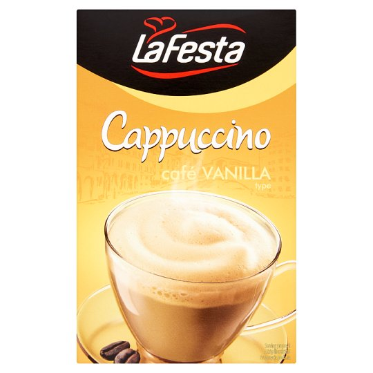 La Festa Cappuccino vanília ízű instant kávéitalpor 10 db 125 g