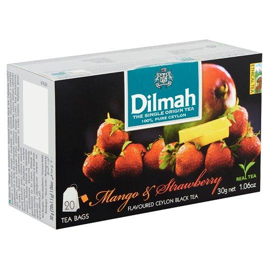 Dilmah Mango & Strawberry aromás filteres fekete tea 20 filter 30 g
