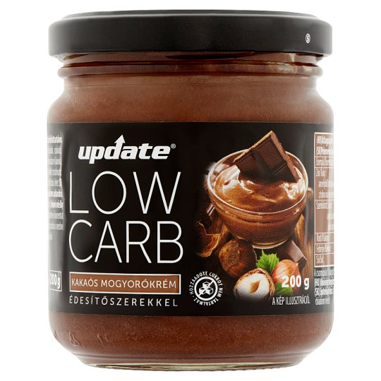 Update Low Carb Cocoa Hazelnut Cream with Sweeteners 200 g