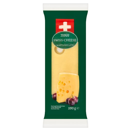 Tesco Swiss Fat Extra Hard Cheese 250 g
