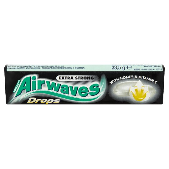Airwaves Drops Extra Strong Menthol And Eucalyptus Flavoured Hard