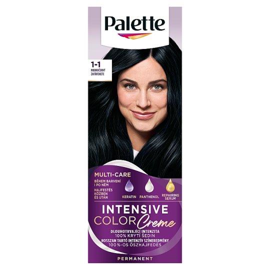 Schwarzkopf Palette Intensive Color Creme Intense Cream Hair Colorant 1-1 Zephyr Black (C1)