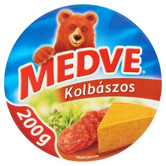 Medve Spreadable Processed Semi-Fat Cheese with Sausage 6 pcs 200 g