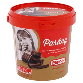Benei Parány Wafers Filled with Cocoa Cream Dipped with Cocoa Dark Coating 350 g