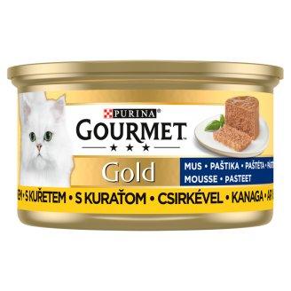 Gourmet Gold Pástétom nedves macskaeledel csirkével 85 g