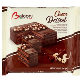 Balconi Choco Dessert with Fat-Reduced Cocoa Coating and Filling 400 g