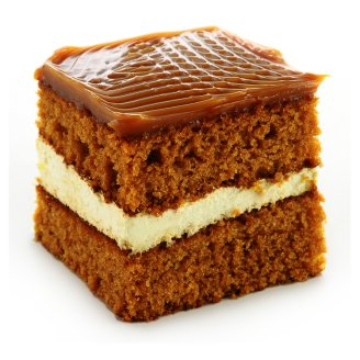 Fudge Cream Cake Slice