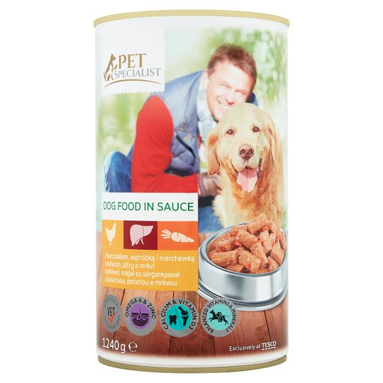 Tesco Pet Specialist Complete Dog Food in Sauce with Chicken, Liver and Carrot 1240 g