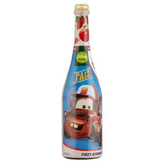 Disney Cars Fizzy Splash Strawberry-Apple Sparkling Fruit Drink with Sugar and Sweetener 0,75 l