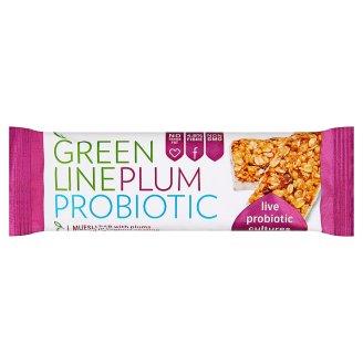 Greenline Plum Probiotic Plum Muesli Bar with Live Cultures Dipped in Yoghurt Coating 35 g