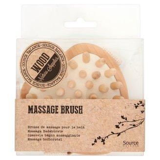 Source Balance Heart Shaped Wood Massage Brush