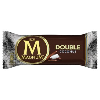 Magnum Double Coconut Ice Cream with Cocoa Coating and Sauce and Milk Chocolate Coating 88 ml