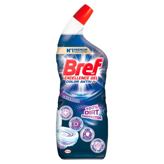 Bref 10x Effect Power Gel Protection Shield Lavender Toilet Cleaner 700 ml