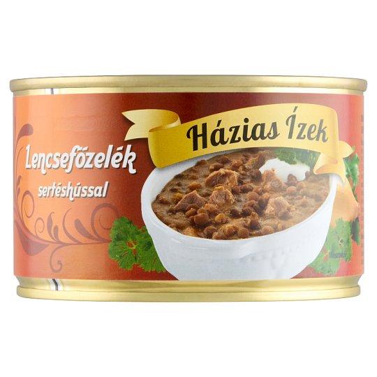 Házias Ízek lencsefőzelék sertéshússal 400 g