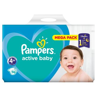 Pampers Active Baby, 4+-os Méret, 96 db Pelenka, 10–15 kg