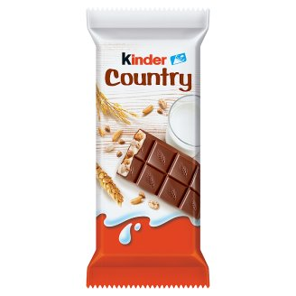 Kinder Country Milk Chocolate Bar Filled with Cereals and Milk 23,5 g