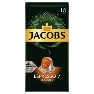 Jacobs Espresso 7 Classico Ground-Roasted Coffee in Capsules 10 pcs 52 g