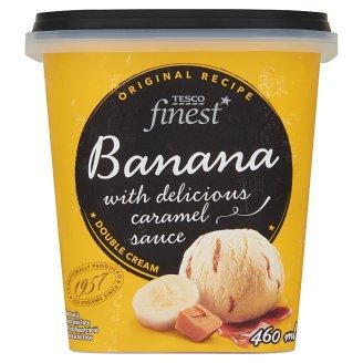 Tesco Finest banán jégkrém karamell öntettel 460 ml