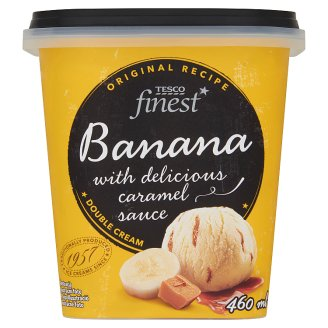 Tesco Finest Banana Ice Cream with Delicious Caramel Sauce 460 ml