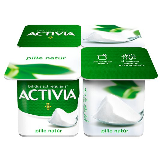 Danone Activia Pille Unflavoured Yoghurt with Live Cultures 4 x 125 g