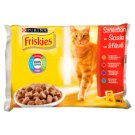 Friskies Multipack Cat Food with Chicken, Beef, Lamb and Duck 4 x 100 g