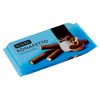 Roshen Konafetto Cocoa Wafer Rolls with Milky Cream 156 g