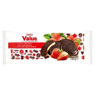 Tesco Value Sponge Biscuit with Strawberry Flavoured Jelly 130 g