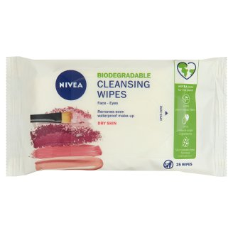 NIVEA 3 in 1 Face Wipes for Face, Eyes and Lips 25 pcs
