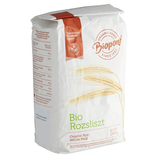 Biopont Organic Whole Meal Rye Flour 1 kg