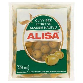Alisa spanyol zöld magozott olívabogyó sós lében 195 g