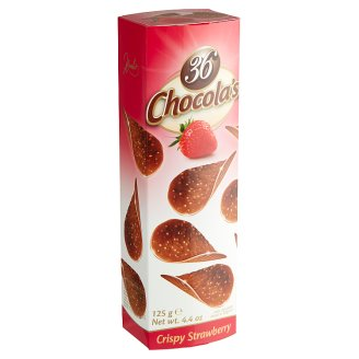 Hamlet 36 Chocola's Crispy Milk Chocolate with Strawberry Flavour 125 g