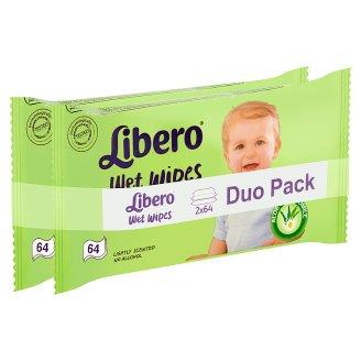 Libero Wet Wipes 2 x 64 pcs