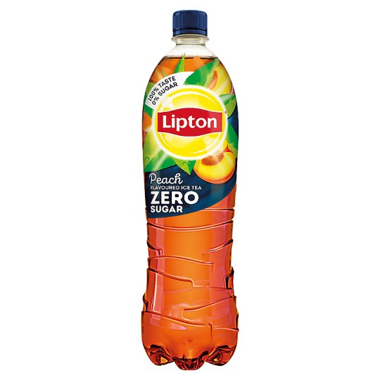 Lipton Ice Tea Zero Energy-Free Peach Flavoured Non-Carbonated Soft Drink with Sweeteners 1,5 l