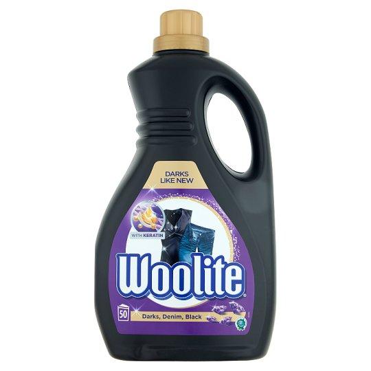 Woolite Darks, Black, Denim folyékony mosószer sötét ruhákhoz 50 mosás 3 l
