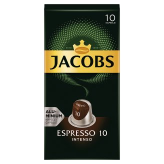 Jacobs Espresso 10 Intenso Ground-Roasted Coffee in Capsules 10 pcs 52 g