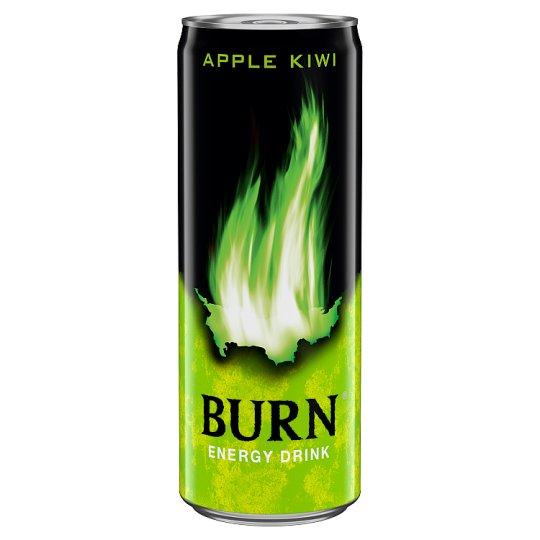 Burn Apple Kiwi Flavoured Carbonated Drink with Caffeine 250 ml