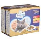 PreVital teljes értékű állateledel felnőtt macskák számára marhával, csirkével, lazaccal 12 x 85 g