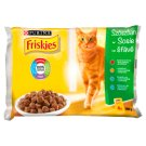 Friskies Multipack Cat Food with Beef, Chicken, Tuna and Cod 4 x 100 g