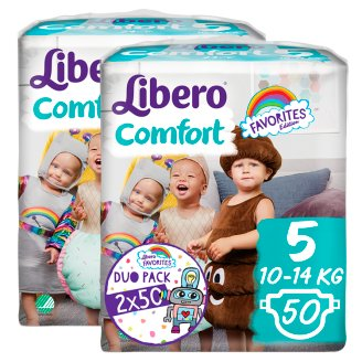 Libero Comfort 5 10-14 kg prémium pelenkanadrág 2 x 50 db