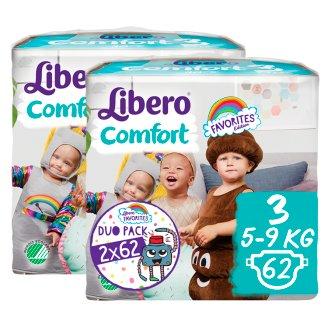 Libero Comfort 3 5-9 kg Premium Nappies 2 x 62 pcs